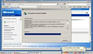 Ein Bild, das schon bald der Vergangenheit angehören wird: Das Update eines XP-Rechners.
