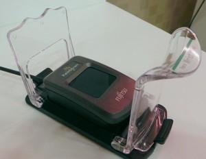 Der Palm Secure Sensor von Fujitsu ist auch als Stand Alone-Geräte zu haben. (c) 2014 Uwe Fischer