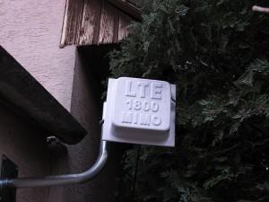 Um LTE mit einer Fritzbox sinnvoll du sicher nutzen zu können, ist der Anschluss einer externen Antenne ratsam. (c) 2014 Uwe Fischer