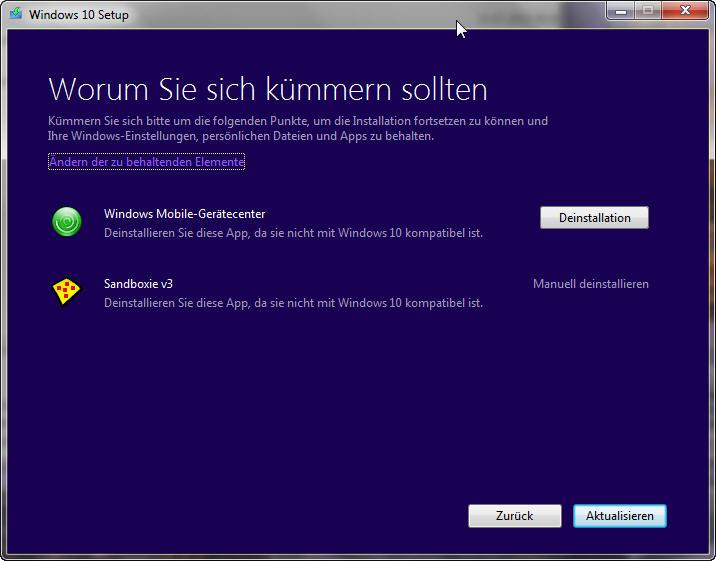 Bei älteren Rechnern tauchen öfter Programme auf, die zu Windows 10 nicht mehr kompatibel sind - aber auch das sind zum Glück nicht viele.